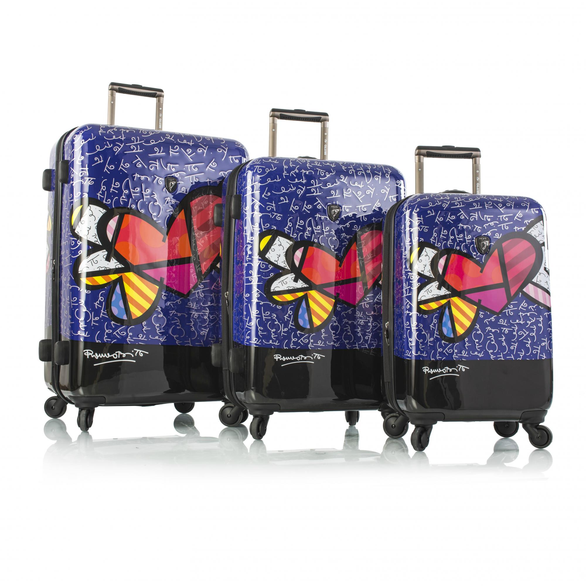 Heys 16049-6907-S3 Britto Butterfly Love Spinner - 3 Pieces set