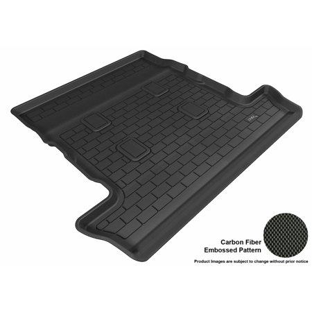 3D Maxpider 2008 2017 Lexus Lx570 All Weather Cargo Liner In Black With Carbon Fiber Look