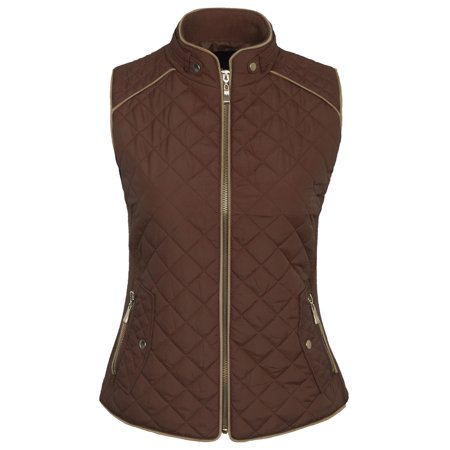 KOGMO Womens Quilted Vest Fully Lined Lightweight Padded Vest S-3X Plus