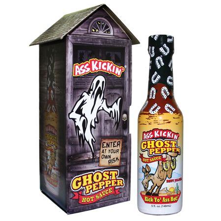 Ass Kickin' Ghost Pepper Hot Sauce with Haunted (Ass Kickin Ghost Pepper Hot Sauce Scoville)
