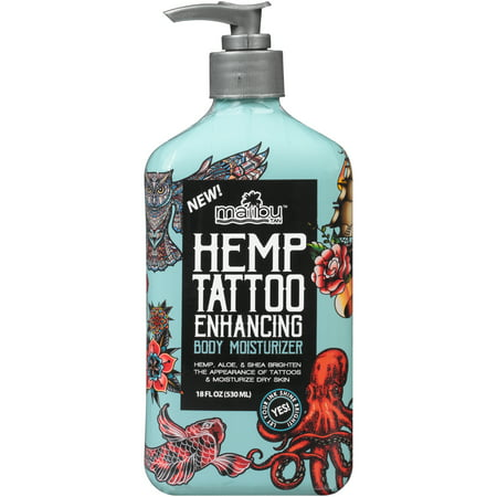 Malibu Tan Hemp Tattoo Enhancing Body Mosisturizer, 12 fl. oz.](Cream For Tattoos)