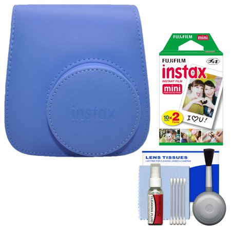 (Fujifilm Groovy Case for Instax Mini 9 Instant Camera (Cobalt Blue) with 20 Twin Prints + Cleaning Kit)