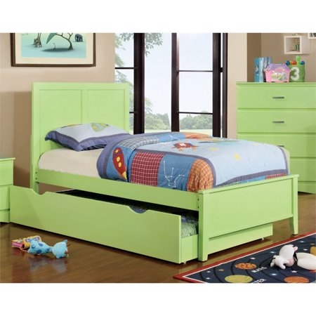 Furniture of America Geller Twin Panel Bed in Pistachio Green
