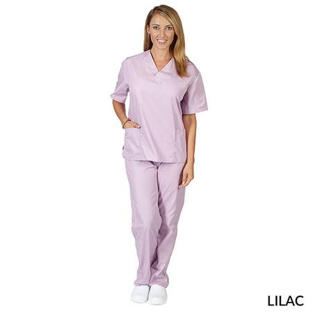 8bc3913d891 Natural Uniforms - Natural Uniforms Unisex Solid V-Neck Medical Scrub Set,  Style 101 - Walmart.com