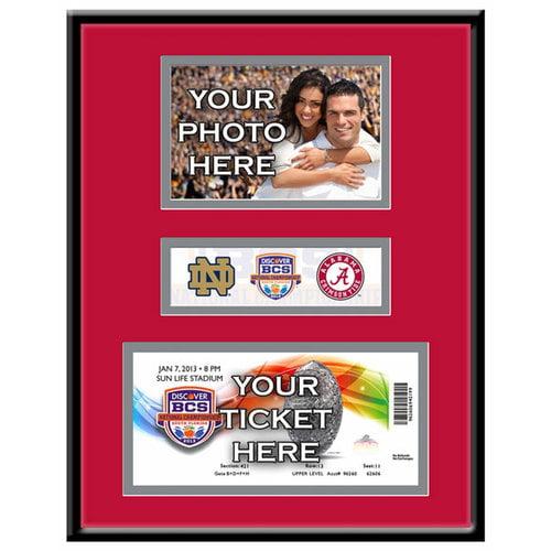 2013 Bcs Championship Game Photo & Ticket Frame - Alabama Crimson Tide Alabama Crimson Tide TFGCALABCS