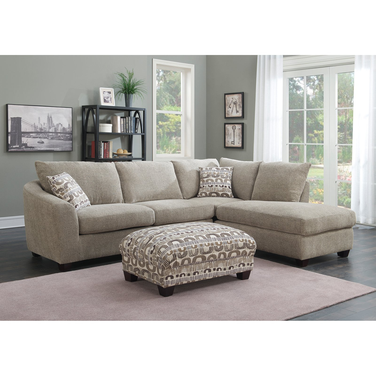Emerald Home Urbana 2 Piece Sectional Sofa with Chaise Walmartcom