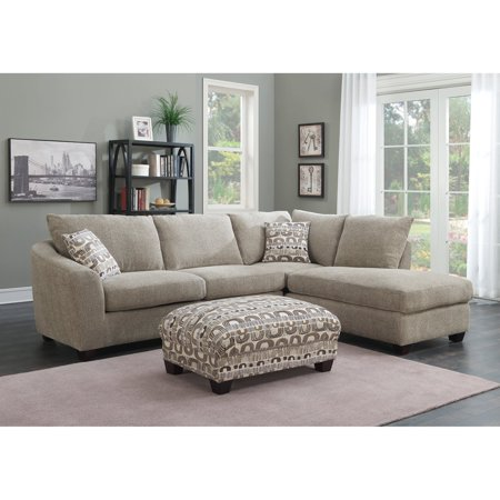Emerald Home Urbana 2 Piece Sectional Sofa With Chaise