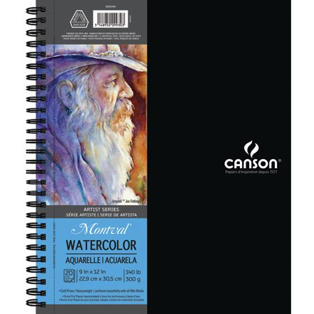 Canson Artist Series Watercolor Book, 9in x 12in, 20