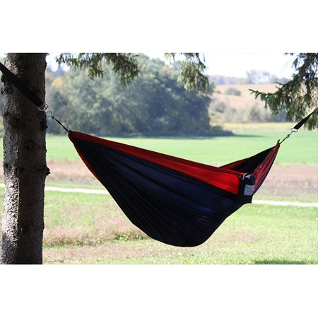 Parachute Hammock, Double (Navy/Red)