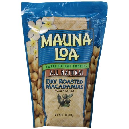 Mauna Loa Macadamias, Dry Roasted with Sea Salt, 11 Ounce