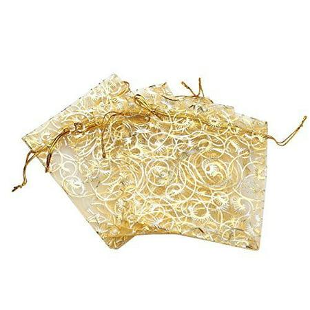 Wedding Gift Bags Walmart : Organza Bags 100pcs Gift Bags Gold Sheer Wedding Favor Jewelry Bags ...