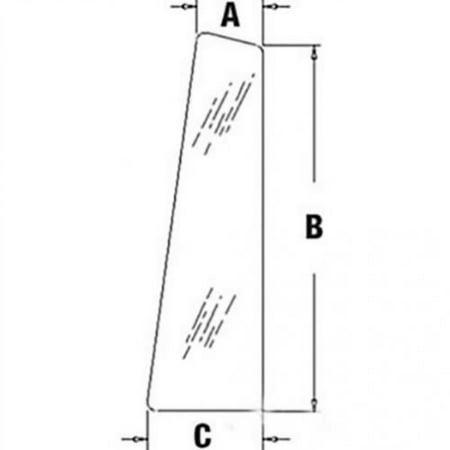 Lh Rear Quarter - Cab Glass - Rear Quarter RH or LH, New, Case, CG6124
