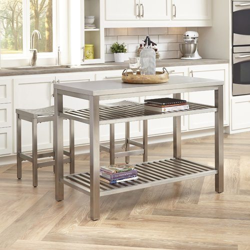 Everly Quinn Sione 3 Piece Kitchen Island Set