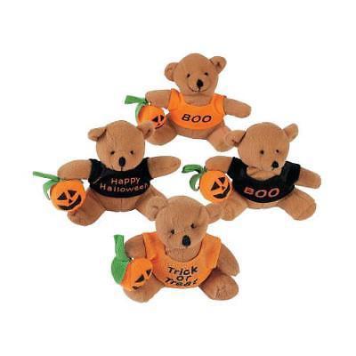 IN-25/2695 Stuffed Bears with A Halloween T-Shirt Per Dozen - Cool Homemade Halloween Stuff