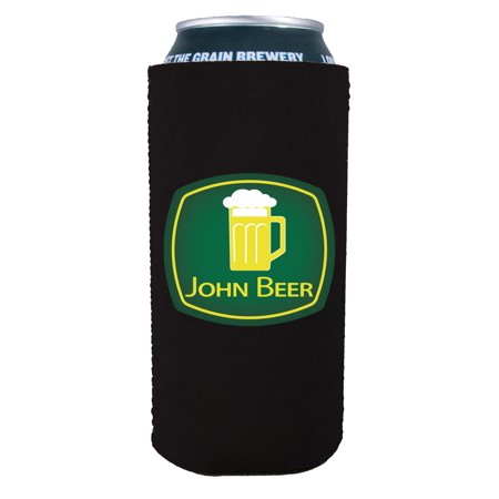 Coolie Junction John Beer Funny 16 oz. Can Coolie (Black) (Funny Coozies For Cans)