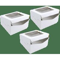 Wilton Square Window Cake Box, 12in, 3 Count