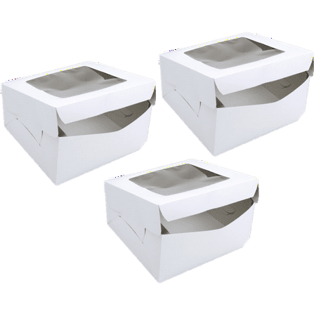 Wilton Square Window Cake Box, 12in, 3 - Cardboard Cake Boxes