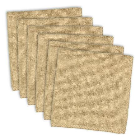 Kitchen Set Pattern - Set of 6 Brown Textured Pattern Rectangular Kitchen Dishcloths 12