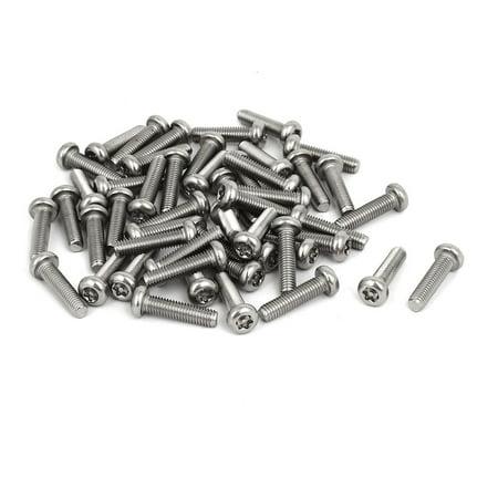 M5 x 20mm 304 Stainless Steel Torx Security Pan Head Machine Screws 50PCS - image 3 of 3