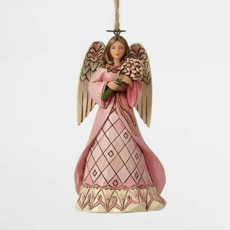 Angel Breast (Jim Shore 4049413 Breast Cancer Awareness Angel Ornament 2015 )