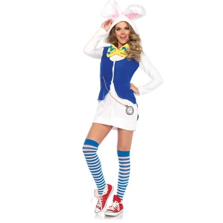 Rabbit Costume Women (Leg Avenue Cozy White Rabbit Adult Womens)