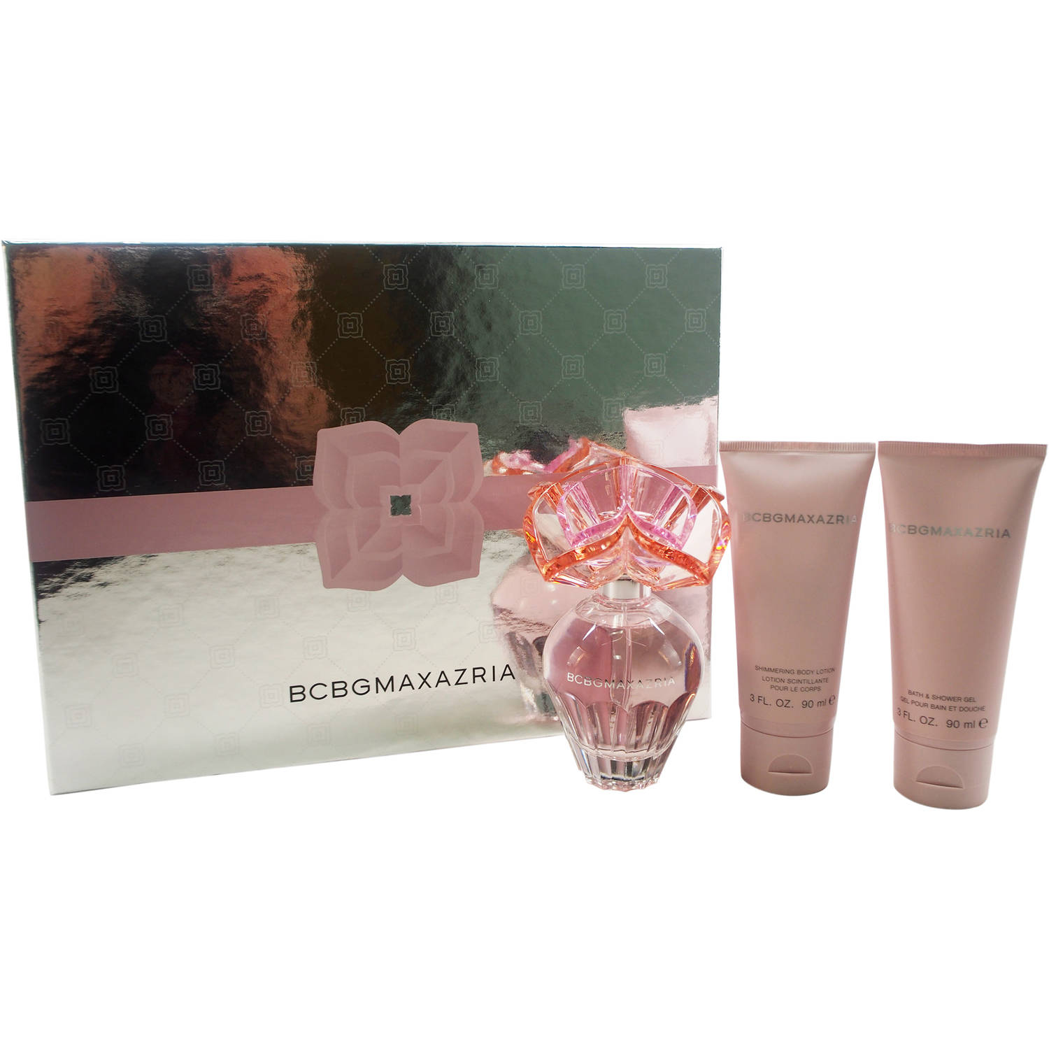 BCBG Maxazria by BCBG for Women - 3 Pc Gift Set 3.4oz EDP Spray, 3oz Shimmering Body Lotion, 3oz Bath & Shower Gel