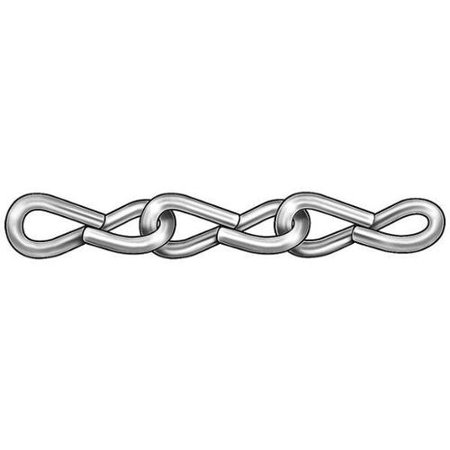 ZORO SELECT 2ZDE7 Jack Chain,Single,Zinc,Sz 14,16 Lb,100Ft