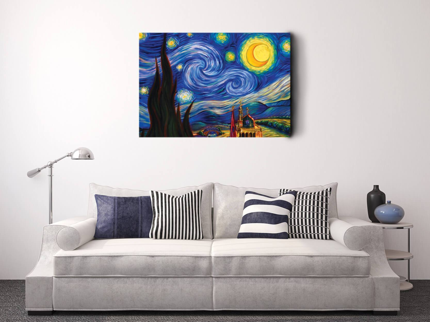 Van Gogh Starry Night - Canvas Wall Art Canvas Wall Hanging Decoration for  Homes and Offices - Walmart.com - Walmart.com