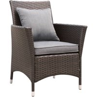 Furniture of America Karrie Patio Dining Chair, Set of 2, Gray and Espresso