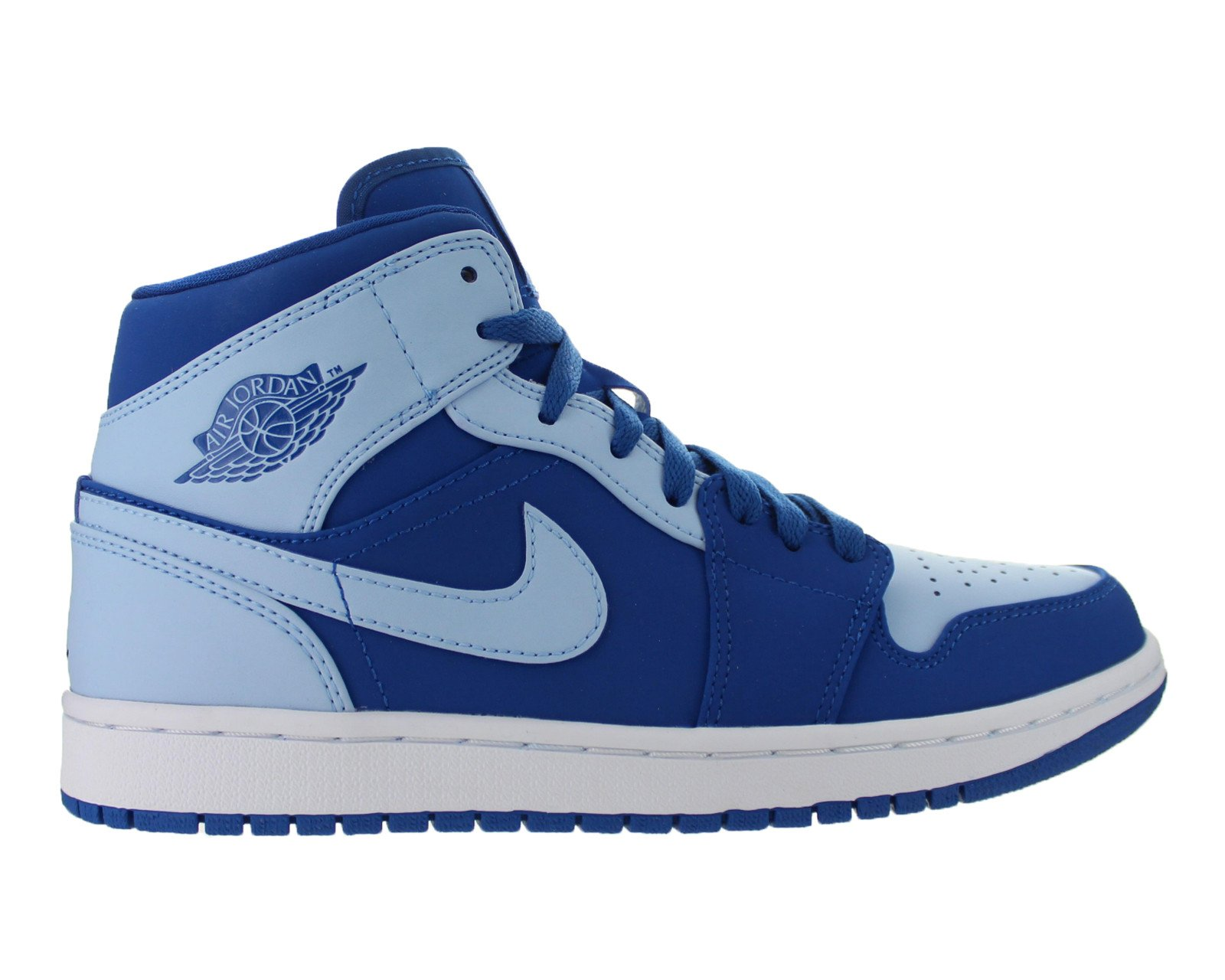 Jordan Mens Air Jordan 1 Mid Team Royal Ice Blue White 554724