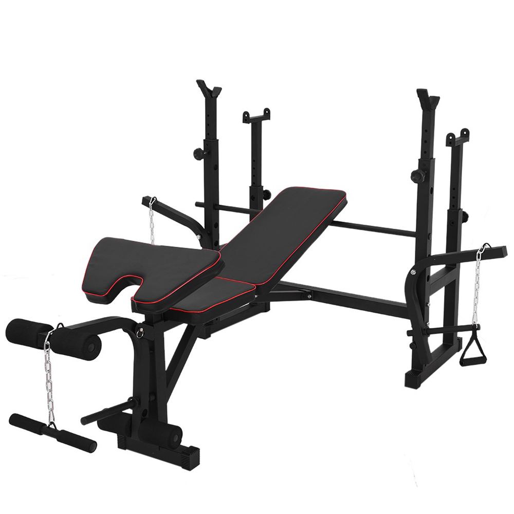 Details about  /Multifunctional Weightlifting Bench Press Bench Barbell Bed Squat Rack Barbell