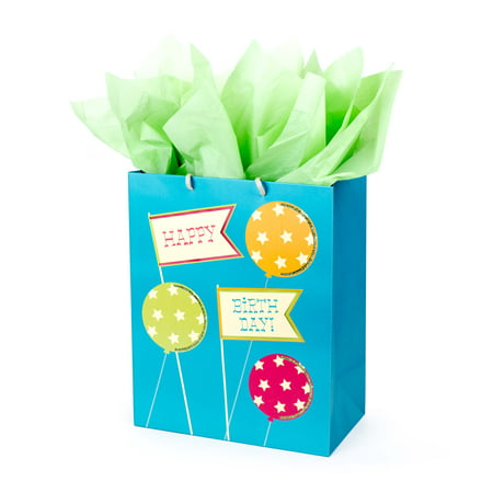 Hallmark Large Gift Bag with Tissue Paper for Birthdays (Happy Birthday to You)