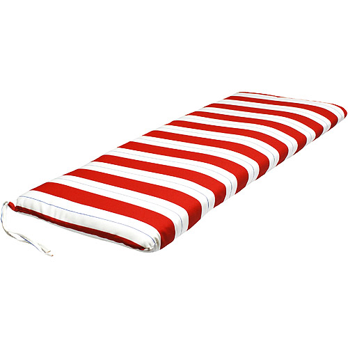Outdoor Swing Glider Bench Cushion Red White And Blue