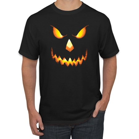 Scary Jack O Lantern Spooky Halloween Smile Mens Fashion Graphic (Men's Halloween T Shirts Target)