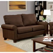 Small Spaces Track Couch Renu Leather Brown Walmart Com
