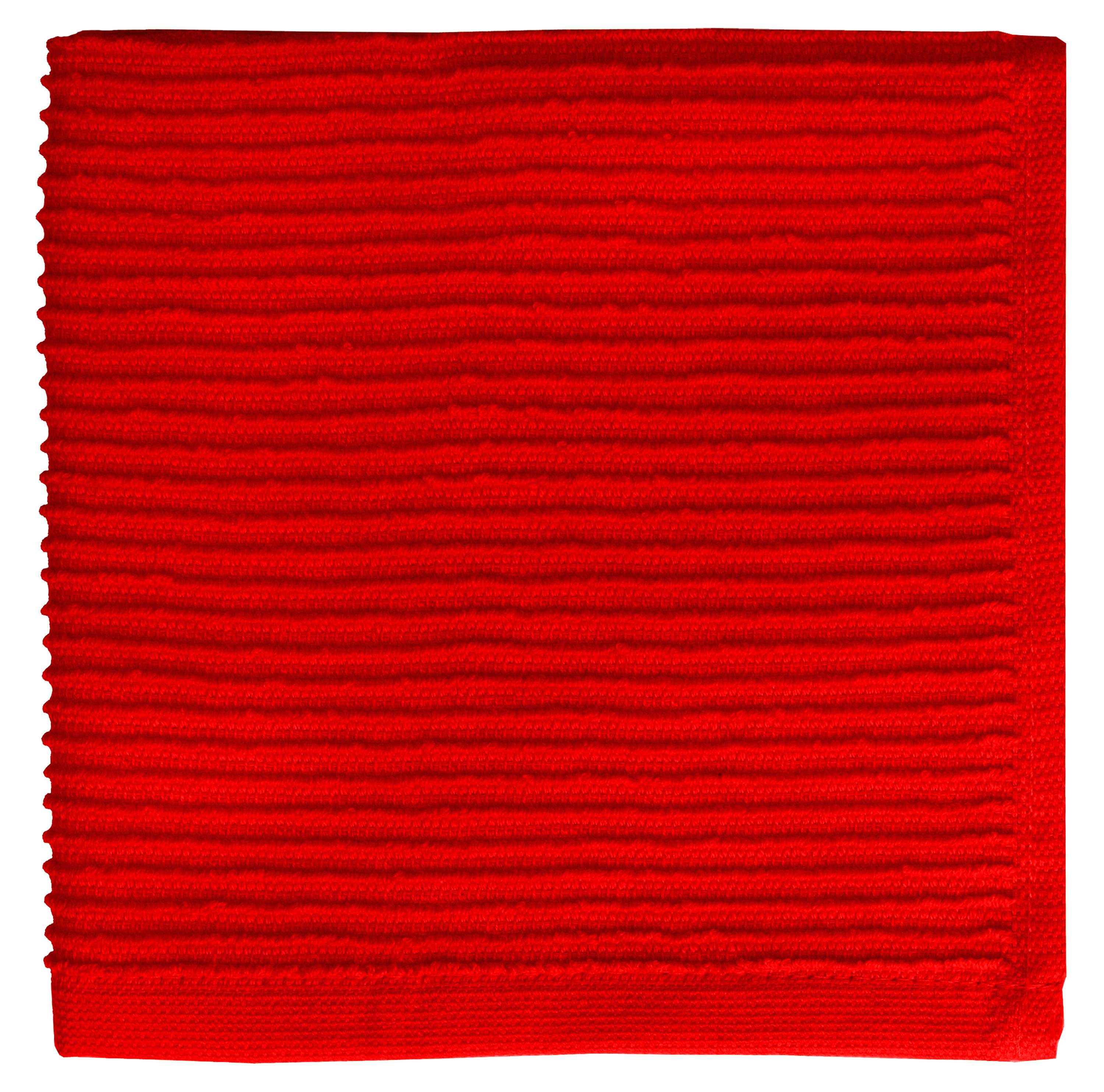 MUkitchen Cotton Ridged Cloth - Ruby Set of 2
