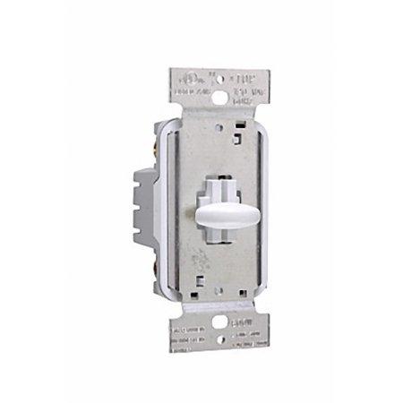 Pass & Seymour White Short Slide Dimmer Switch 1000W Single Pole SS1000WV
