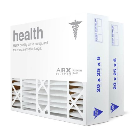 AIRx Filters Health 20x25x6 Air Filter MERV 13 Replacement for Aprilaire Space-Gard 201 to Fit Media Air Cleaner Cabinet Aprilaire Space-Gard 2200, 2-Pack