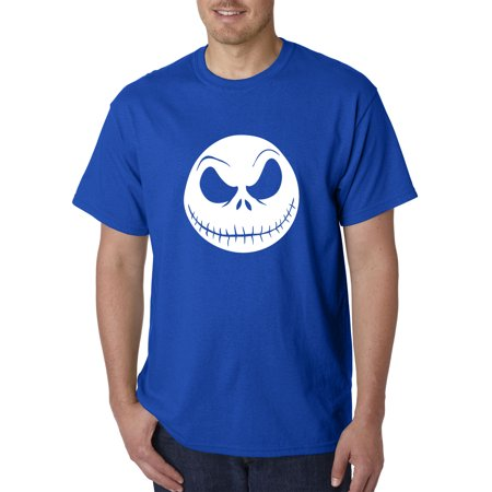 New Way 1122 - Unisex T-Shirt Nightmare Before Christmas Jack Skelleton Face 2XL Royal Blue ()