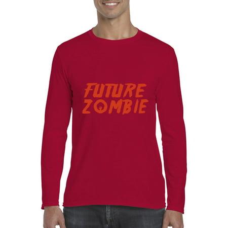 Halloween T Shirt Future Zombie Costumes Idea Birthday Fun Family Party Gift Artix Softsyle Long Sleeve Mens Tee