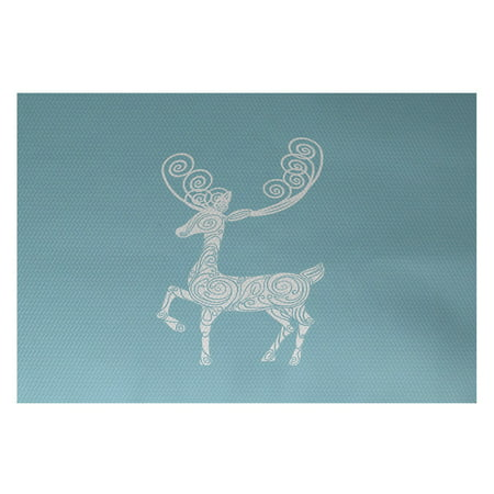 Simply Daisy 2' x 3' Deer Crossing Decorative Holiday Animal Print Indoor - Holiday Decorative Rug