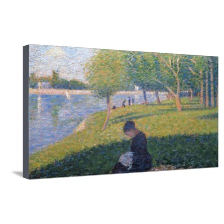 The Seamstress, Study for 'A Sunday Afternoon on the Island of La Grande Jatte', 1886 Stretched Canvas Print Wall Art By Georges (A Sunday Afternoon On The Grande Jatte)