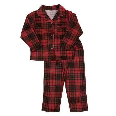 Leveret - Leveret Kids Pajamas Flannel Pajamas Boys & Girls 2 Piece Christmas Pajama Set Black/Red Plaid 6 Years - Walmart.com