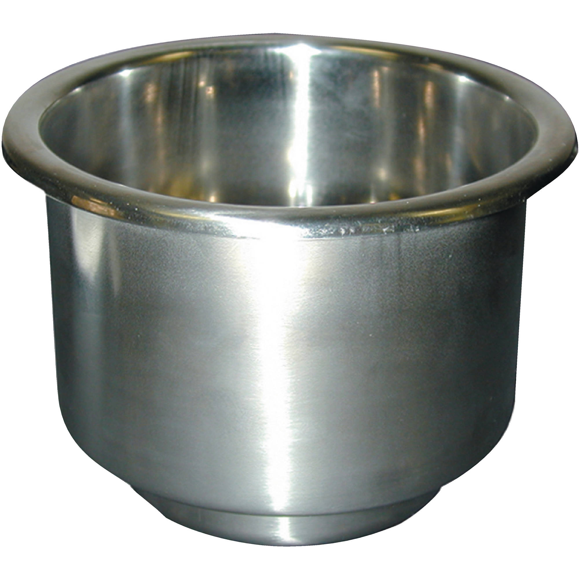 "T-H Marine Stainless Steel Cup Holder 3-3 4"" Diameter with 3 8"" Drain by T-H Marine Supplies"