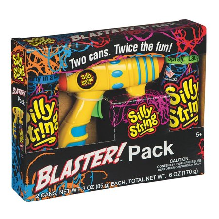 (Blaster Pack, Includes one (1) Blaster and two (2) cans of the original 3 ounce Silly String Spray Streamers By Silly String Ship from US)