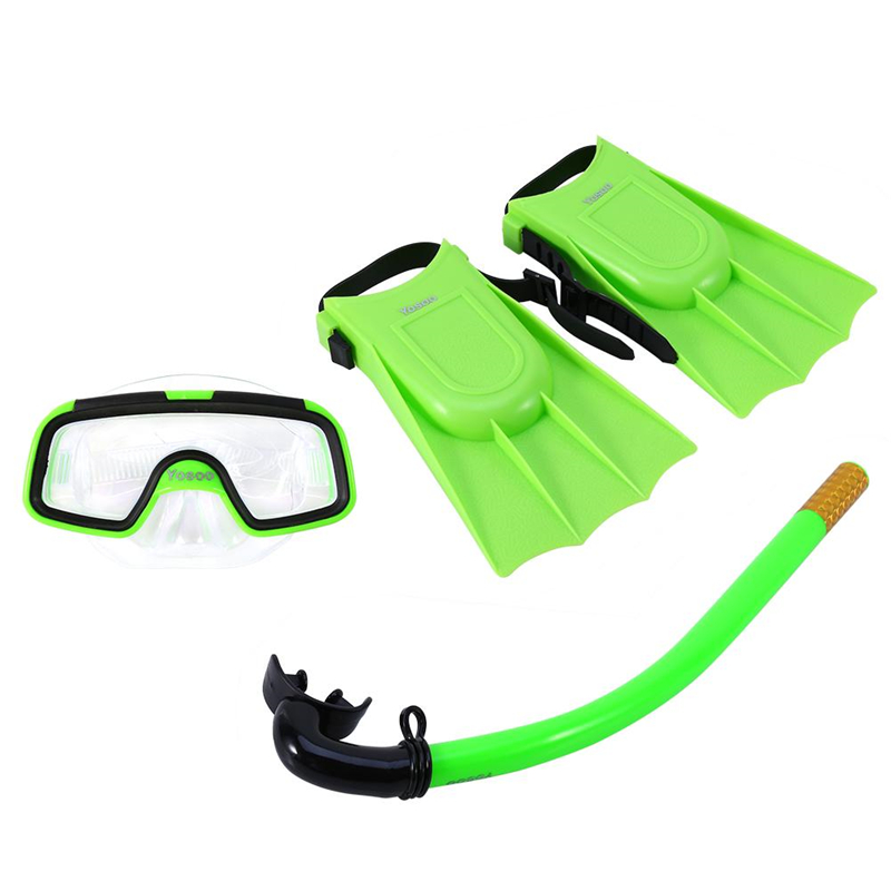 Children Snorkeling Set, Diving Kids Goggles Flippers Snorkel Set, Lightweight Comfortable Toddler Learn Swimming... by Eb Network Technology
