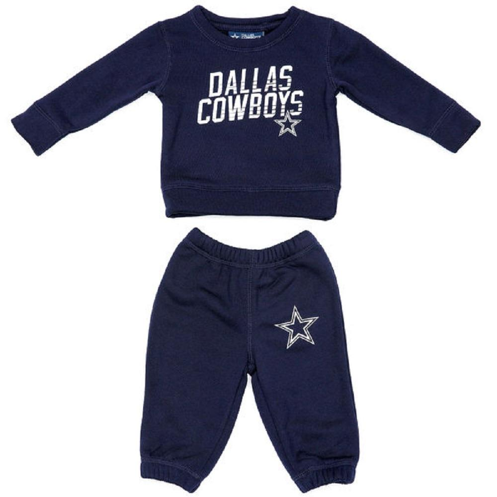 Dallas Cowboys Infant & Toddlers Navy Stewart Sweatshirt and Pants Set by Dallas Cowboys Merchandise