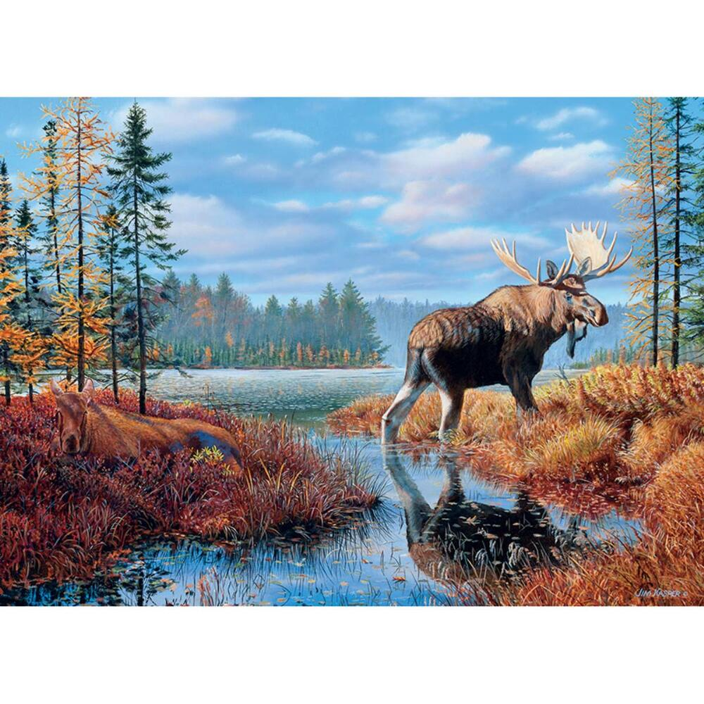 Outset Media Moose Marsh Jigsaw Puzzle