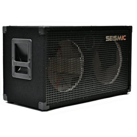Seismic Audio 212 EMPTY GUITAR SPEAKER CABINET ~ 2x12 PRO AUDIO Cab - 212Empty 2x12 Guitar Speaker Cabinet