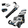 """HART 40-Volt 20"""" Brushless Self Propelled Mower with 40-Volt Turbo Fan Blower (2-Tool)"""